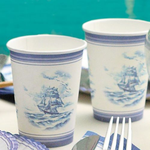 Veliero Cups Card 250cc 10's China Style Chinese Paper disposable tableware